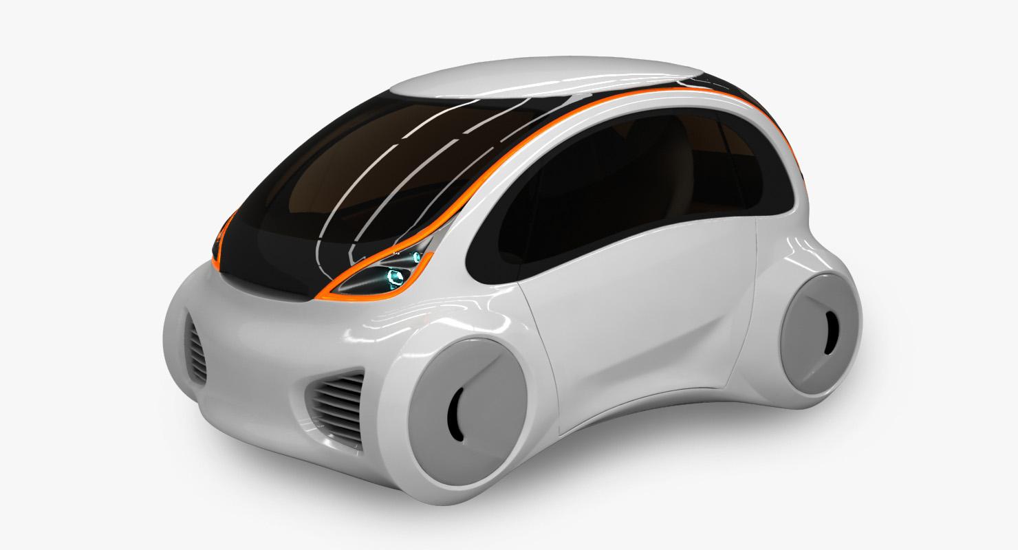 3D model futuristic car concept