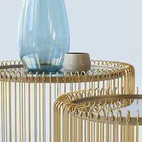 table wire brass furniture 3D model