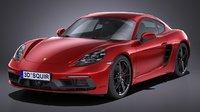 LowPoly Porsche Cayman GTS 2018