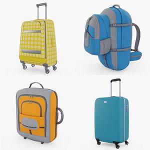 3D travel bag model