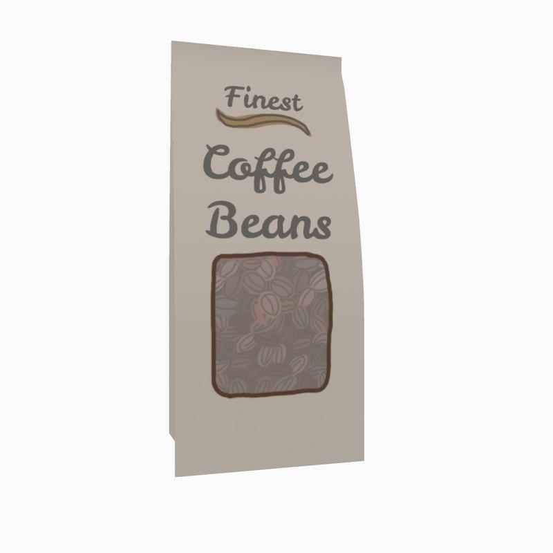 3D cartoon bag coffee