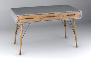 3D model desk x factory 3