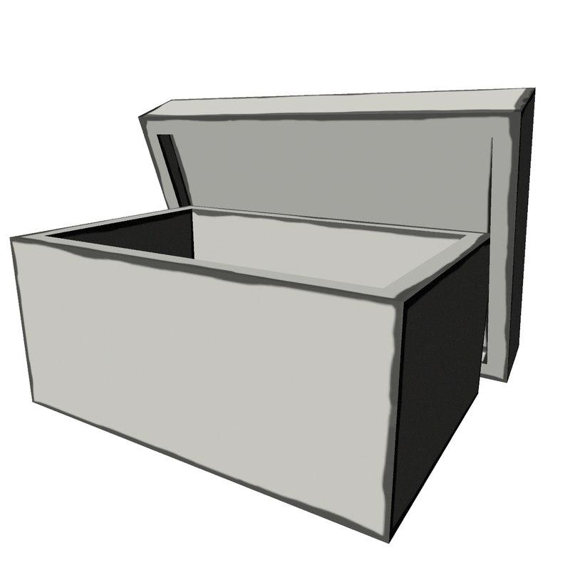 cartoon shoebox box model