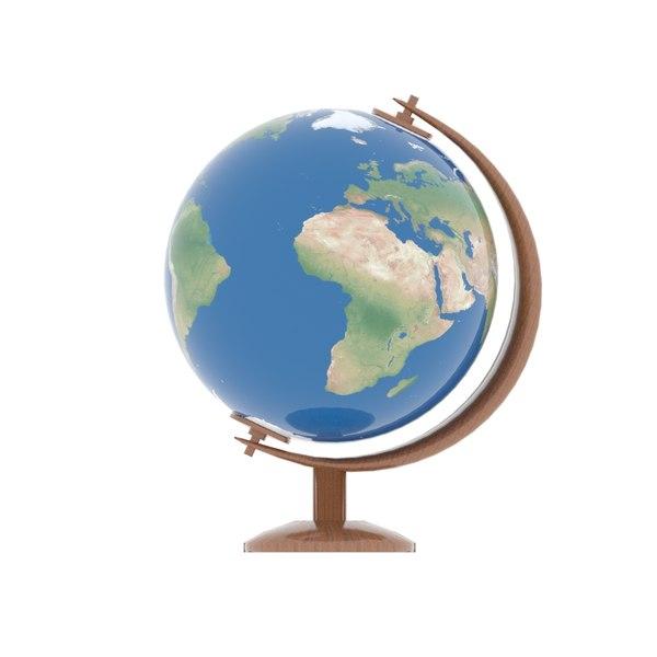 3D globe design subdivision