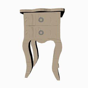 3D cartoon bedside drawers model