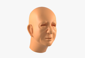 oldster head basemesh 3D model