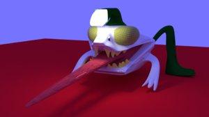3D angler fish frog
