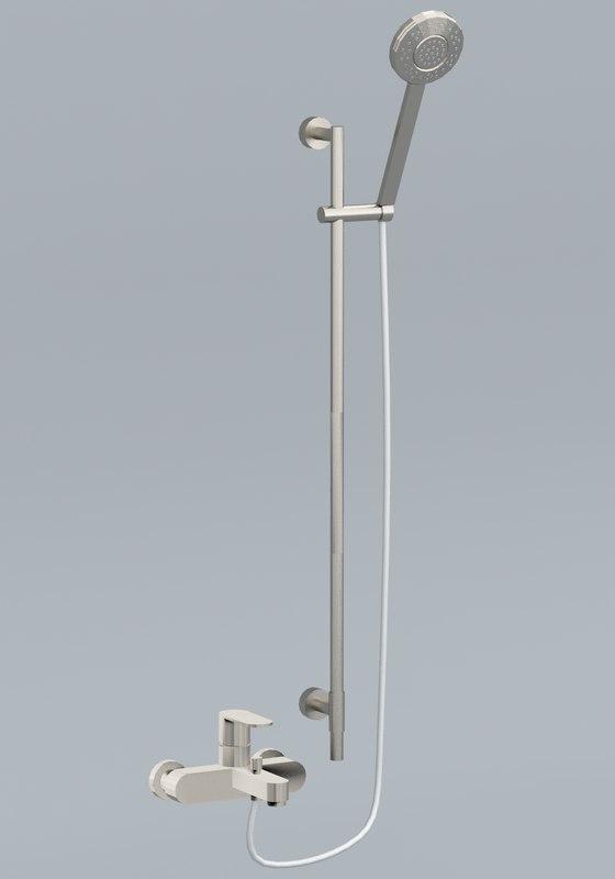 wall shower faucet 3D model