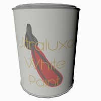 Cartoon Low Poly Paint Can