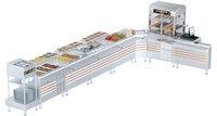 kitchen equipment serving lines 3D model