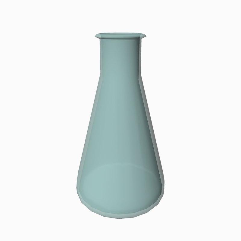 cartoon conical flask 3D model