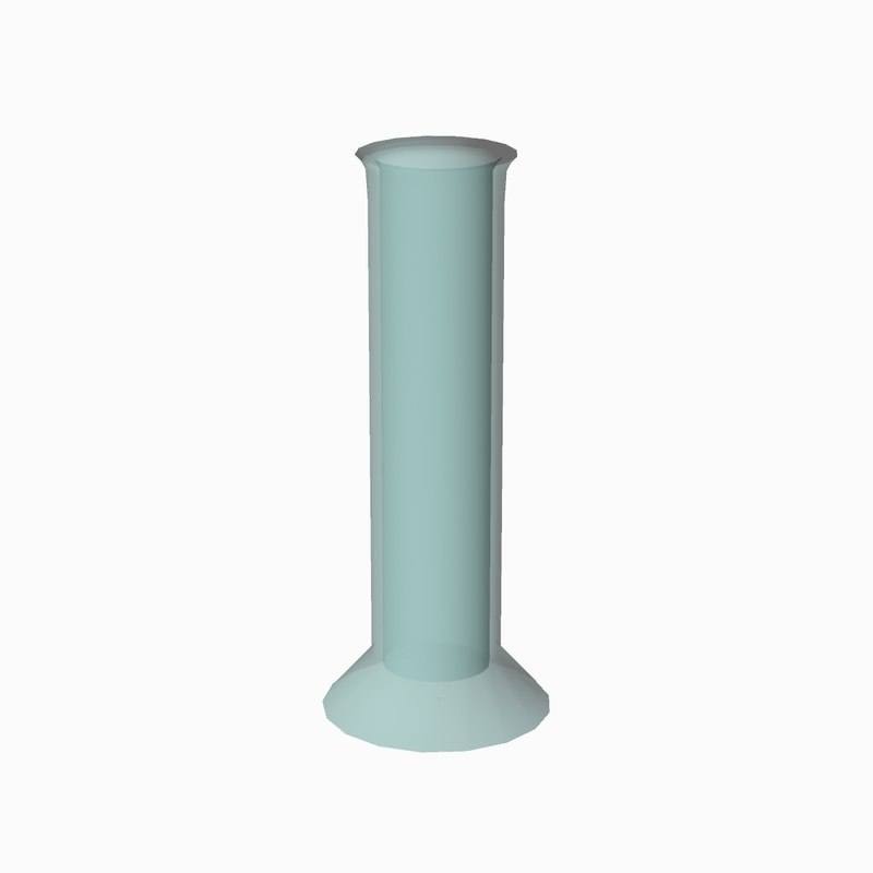 cartoon graduated cylinder science 3D model