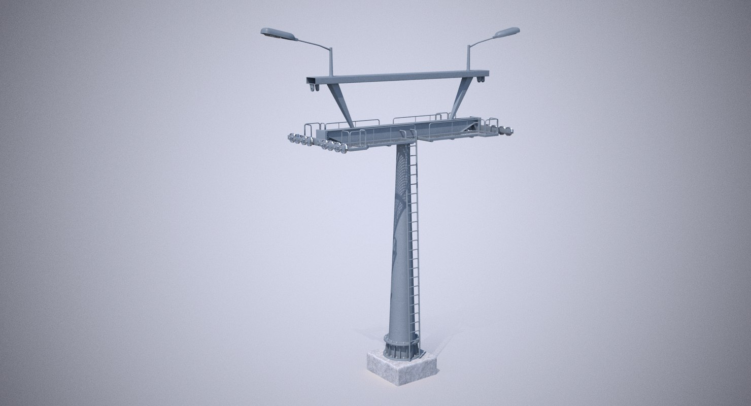 chairlift tower 3D model