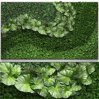 3D model vertical gardening green wall