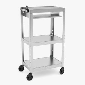 3D mobile computer cart model