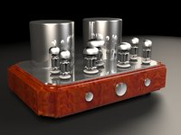 3D vacuum tube amplifier model