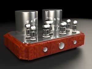 3D vacuum tube amplifier model