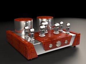 vacuum tube amplifier 3D