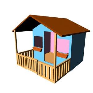 3D playhouse wendy house