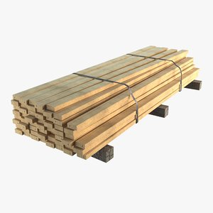 lumber pallet 3D model