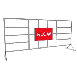 3D model road safety barrier