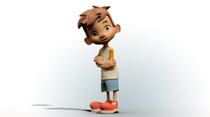 boy cartoon model