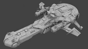 capital ship 3D