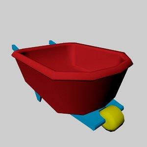 children s wheelbarrow 3D model