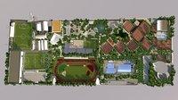 sports club complex 3D model