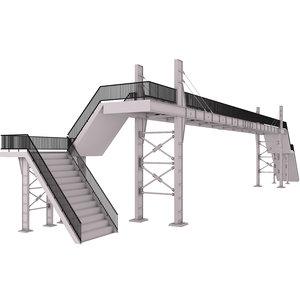3D pedestrian bridge