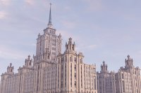 3D historical moscow stalinist skyscrappers model