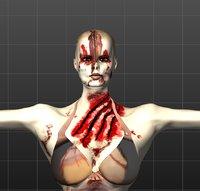 zombie women 3D model