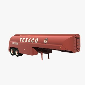 32ft tanker trailer 3D