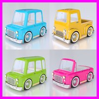 cartoon car pack 03 3d ma