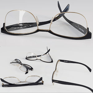 3D model prada glasses