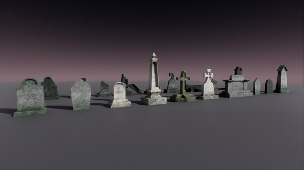 pbr pack tombstone 3D model