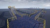 modular industrial platform ue4 3D