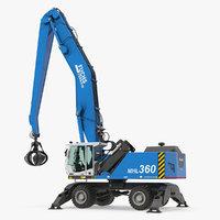 3D terex fuchs mhl360 handler