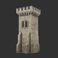 3D blender tower medieval