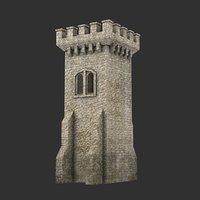 3D blender tower medieval