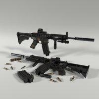 3D colt m4a1 automatic rifle