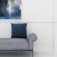 velvet cushion 3D