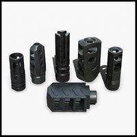 3D muzzle weapon attachments