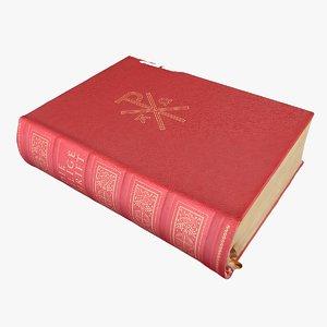 3D model old bible