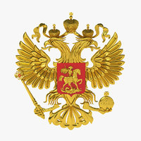 national emblem russia eagle 3D