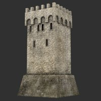 blender tower medieval 3D
