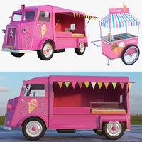 Ice Cream Truck And Cart