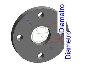 flat flange parametric model
