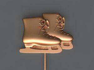 skates mold hand 3D model