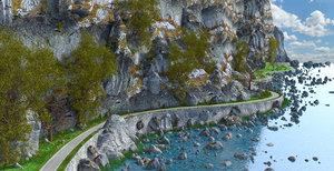 road toon cartoon 3D model